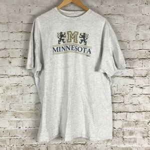 VTG Minnesota T-Shirt Size Xl Single Stitch Gray